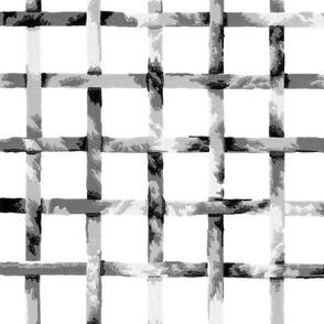 Green Gables Trellis ~ Black and White on White