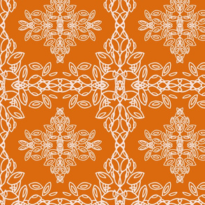 Orange leaf pattern