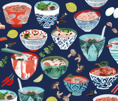Noodle Bowl Collection-Indigo-large