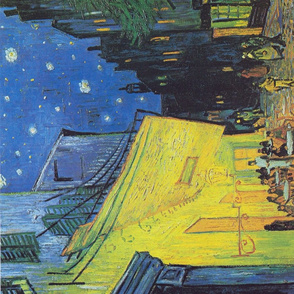 Van Gogh Cafe Terrace at Night Fine Art Tea Towel or wall hanging quilt