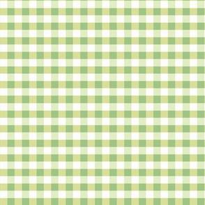 Gingham Lime Lemon Pale Green