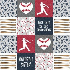 """(1& 1/2"""" scale) baseball sister - concessions - baseball patchwork - C20BS"""