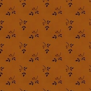 berry sprig orange brown 2042-36