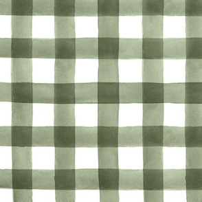 Fall Buffalo Check Plaid in Olive