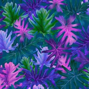 Tropical Leaf Teal