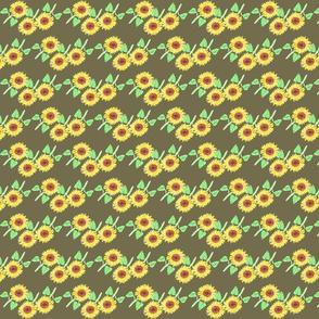 sunflower olive green pattern