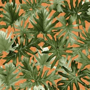Tropical-Leaf-Green-Orange