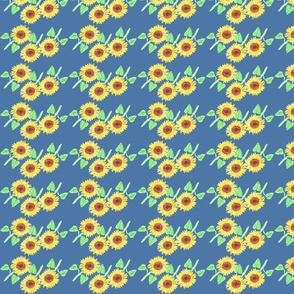 Mosaic blue sunflower