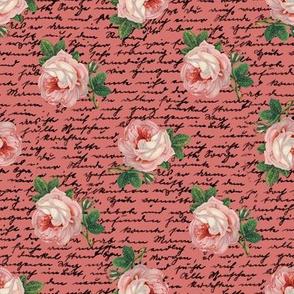 pink skull roses rosepnk01