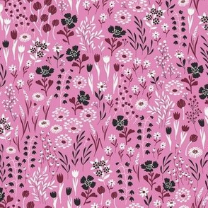 Micro Ditsy Floral Pattern Pink