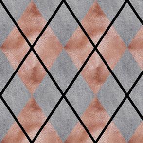 Denim and Leather Argyle Medium Scale by Shari Lynn's Stitches