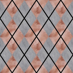 Denim and Leather Argyle Small Scale by Shari Lynn's Stitches