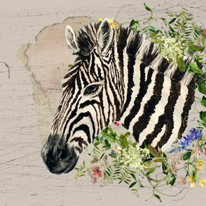 Zebra with Midsummer Flowers