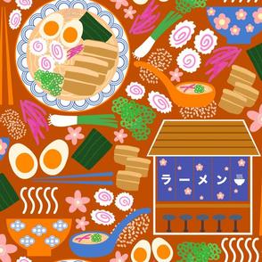 (L) Tokyo Ramen Shop - Large on Orange - Japanese / Asian Food / Cuisine