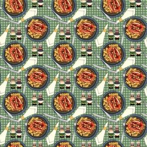 Shrimp Bowtie Pasta Dinner