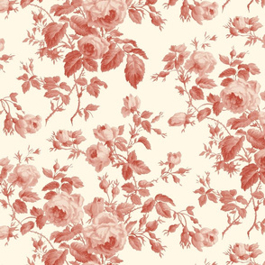 Dolly Rose ~  Turkey Red on Cosmic Latte