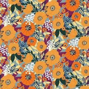 Pretty Orange Poppies Small Scale by Angel Gerardo