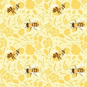 bees & flowers - light