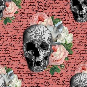 Pink Skull Roses | sklpnk01