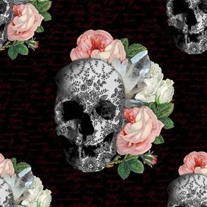 Pink Skull Roses | sklred02