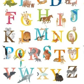 Animal alphabet small