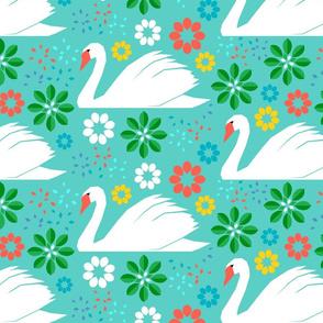 Papercut Swans Tropical