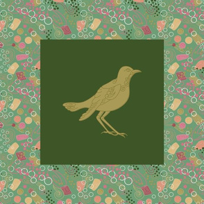 Spiral Bird Panel_12.5in