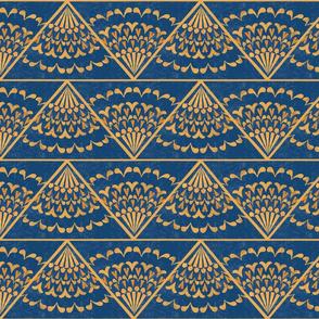 art deco triangle tile