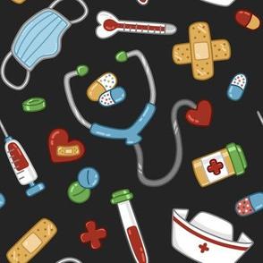 Cute Medical Stuff on Black large