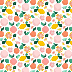 Pop Citrus Party - White -Small by Heather Anderson