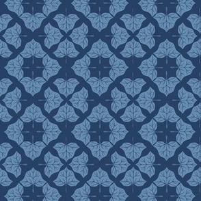 Blue Ivy Diamond Damask