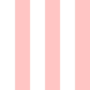 """3"""" Blush Pink and White Stripes - Vertical - 3 Inch / 3 In / 3in"""