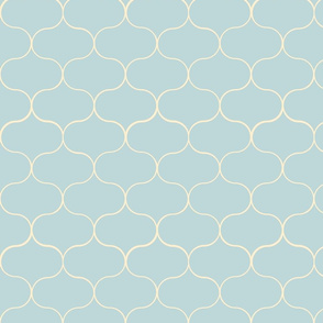 Ogee pattern light blue