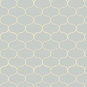 Ogee pattern Grey
