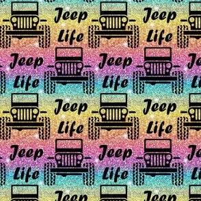 jeep life rainbow