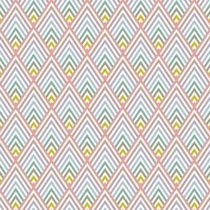 diamond scales - pale rainbow
