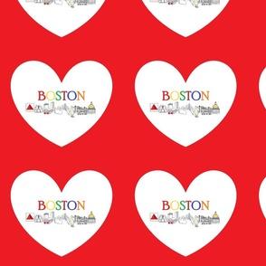 boston heart fabric