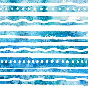 Blue Watercolor Waves