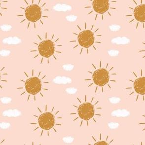 little golden sun // pink