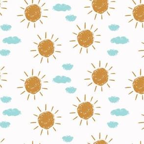 little golden sun // white