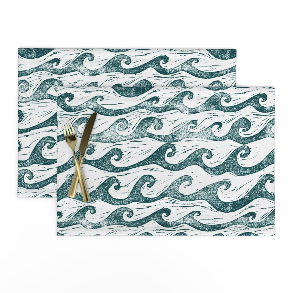 Lamona Cloth Placemats featuring Wave  by sodabyamy