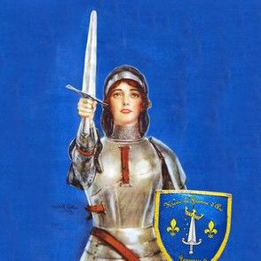 St. Joan of Arc face mask fabric