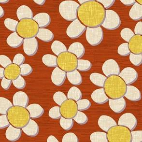 daisy joy rust red small