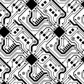 Printed Circuit Board - Black on White