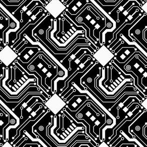 Printed Circuit Board - White on Black