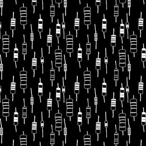 Resistors - White on Black