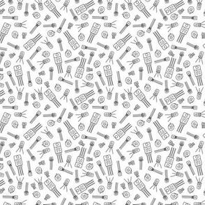 Transistors - Black on White