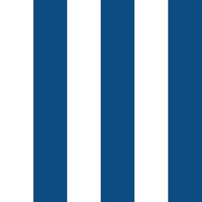 """1"""" Classic Blue and White Stripes - Vertical - Vertical - 1 Inch / 1 In / 1in"""