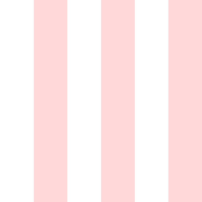 """3"""" Powder Pink and White Stripes - Vertical - 3 Inch / 3 In / 3in"""
