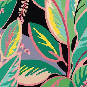 Jumbo Tropical Ti-leaf Bloom -aqua pink